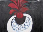 Roger Large, The Red Plant, (170), oil, 80x100cm, £1,850