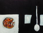Roger Large, Still Life with Fruit, (6), acrylic, 61x44cm, £875